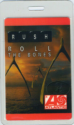 RUSH 1991 Roll The Bones Laminated Backstage Pass Red