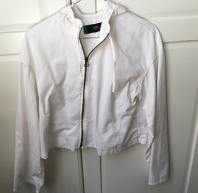 Maternity White Jacket EUC Size M or 10-12