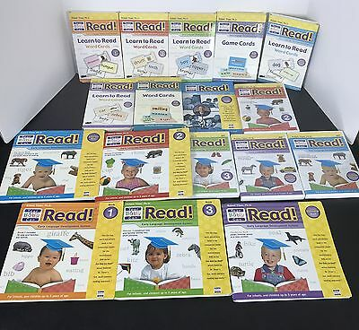 YOUR BABY CAN READ Set 4 DVD 6 Word Card Sets 1 Game Card Sets 5 Books