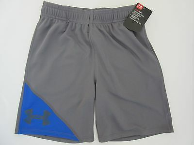 Under Armour Heat Gear Boys' Graphite (Gray) Shorts Size Youth 6 - NWT