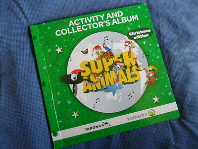 Woolworths Super Animals ,* Green Christmas Edition + COLLECTORS ALBUM