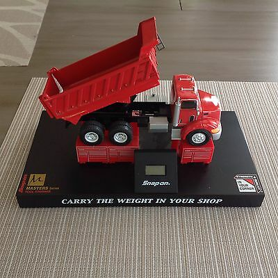 "snap on tools clock toolbox display ""carry the weight in your shop"" dump truck"