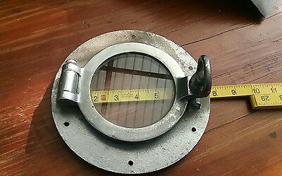 Antique Vintage Brass Ships Porthole Nickel Plated Not Reproduction