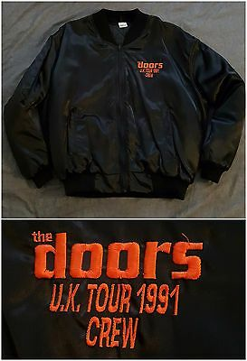 The DOORS U.K. Tour Crew 1991 Bomber Jacket Movie Film Exclusive England
