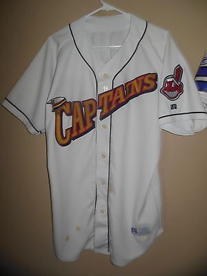 Cleveland Indians Lake Cnty Captains Minor League Baseball Game Used Jersey