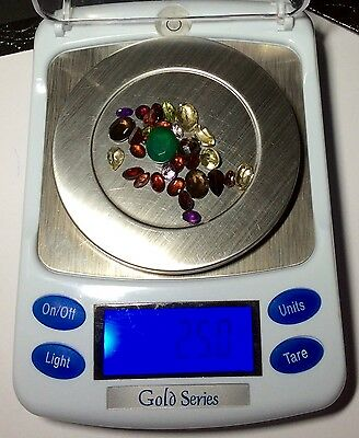 Natural Gemstones from Gold Scrap Recovery, 25 Carats