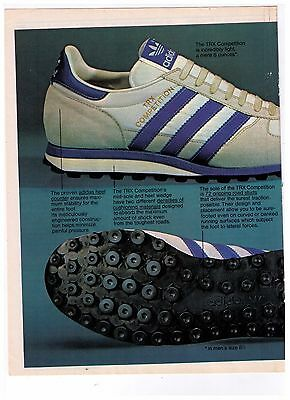 "1978 Adidas ""TRX Competition"" Running Shoe Vintage Print Advertisement"