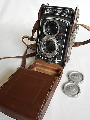 Vintage Rolleicord Rollei Camera With Leather Case & Lens Cap 1598954