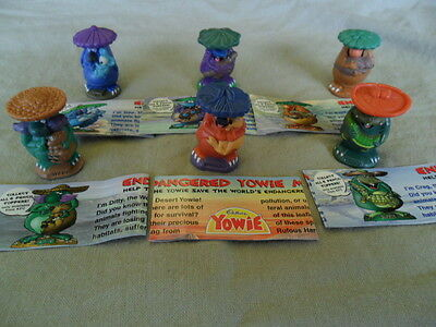 Yowies KFC Series 1 COMPLETE SET of 6 * YOWIE PENCIL TOPPERS * LIMITED EDITIONS