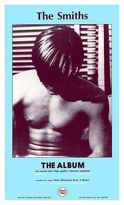 the SMITHS **POSTER**  The Album -  1st Promo ad - Morrissey Johnny Marr 1984