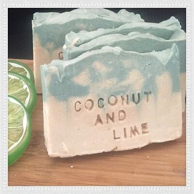 1 X Coconut & Lime Soap- Natural, Organic, Handmade. With Added Coconut Milk