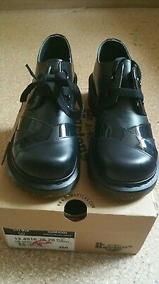 NEW Dr Martens Sylwia Back Leather Noir Smooth Patent Lamper Womens Shoes UK5