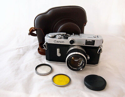 1958 Rangefinder Canon Model P +50mm f/1.8+Extras...SUPERB CONDITION...free post