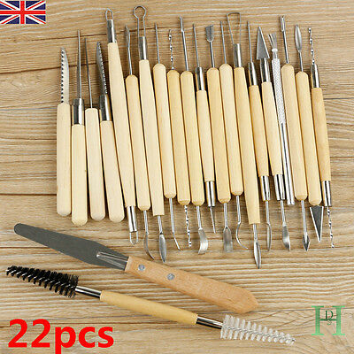 2017 Polymer Clay Sculpting Tool Set Wood Models Art Projects Pottery Kit Set