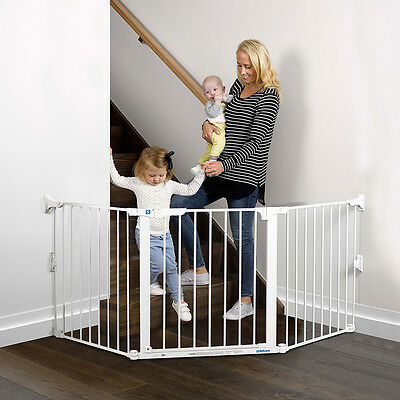 Childcare Flexi Gate Baby Child Safety Gate Pet Barrier White