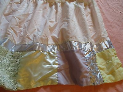 VINTAGE look Velvet satin Baby Nursery Crib Skirt Bedding Shabby cottage chic