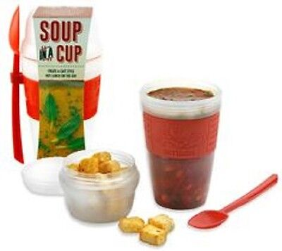 Smash Soup In A Cup Container with Spoon - Red