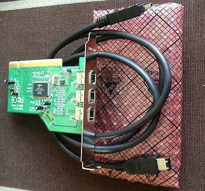 IEEE 1394 Firewire Card and Cable For Video & Digital Cameras,  Peripherals
