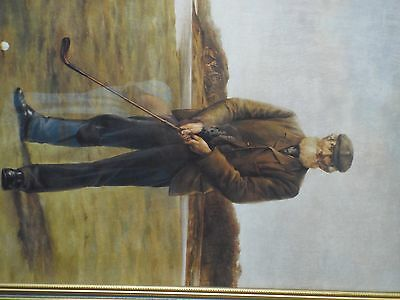 Framed picture of a Golfer