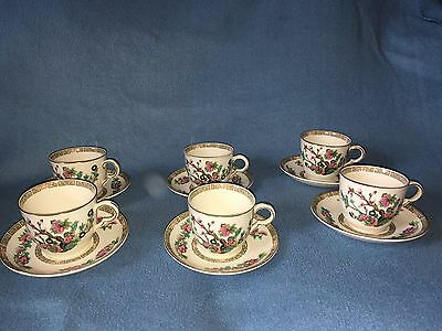 "maddock ""Indian tree"" 6 cups and Saucers"