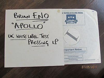Brian Eno ORIGINAL TEST PRESSING Apollo LP