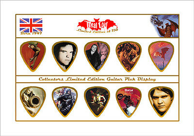 Meat Loaf Guitar Picks On Photographic Display FREE SHIPPING !!