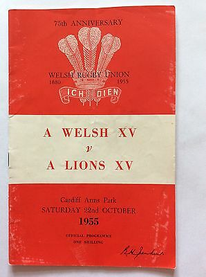 British Lions Rugby Progs 1955 & 1977 In Uk