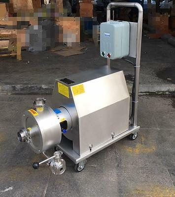 Mobile Emulsion pump High shear emulsifying pump 7.5KW with Wheels 2017