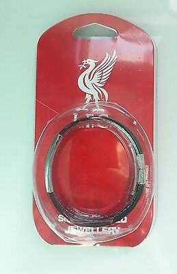 Liverpool Fc Stitched Silicone Silver Plated Jewellery Bracelet