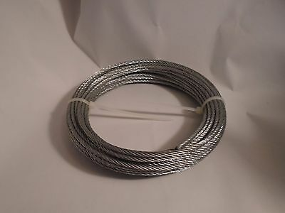 New 3Mm Dia Flexible Stainless Steel Wire Rope Cable 12 Meter Length