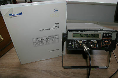 Marconi 2440 Microwave frequency counter (10Hz -20Ghz) + Service manual