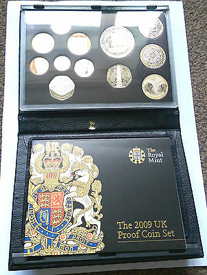 2009 Royal Mint Deluxe Proof Coin Set including RARE Kew Gardens 50p