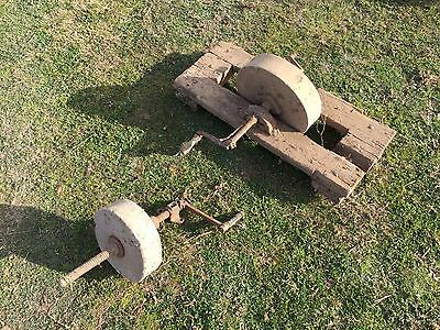 Antique sharpening stone wheel
