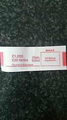 £20 note money bands/UK currency straps (select quantity)