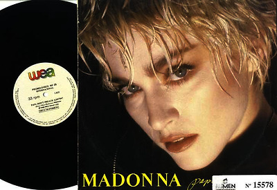 "Madonna - Papa Don't Preach Brazil Promo Only 12"" Vinyl Promo 25 Unique Sleeve"