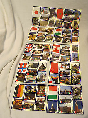 10 x Disney Stamp sheet souvenir lot Country Countries pictures Germany Canada +