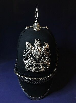Very Rare Victorian Tyne Volunteer Submarine Miners Blue Cloth Helmet