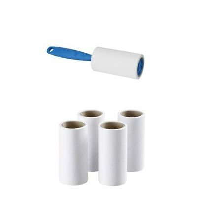 Lint Roller Fluff  Hair Dust Remover + 4 REFILLS / 300 sheets - 45 meters