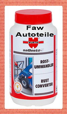 2 x Würth Rust converter Rust remover Rust Remover Rust protection 1 Liter #####