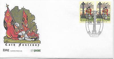 Ireland, FDC 1995 Battle of Fontenoy joint issue with Belgium