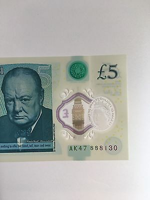 England New £5 Note AK47 888 130 (lucky Number )