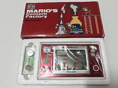 Mario's Cement Factory - Nintendo Game & Watch 1983 ML-102 - ORIGINAL BATTERIES!