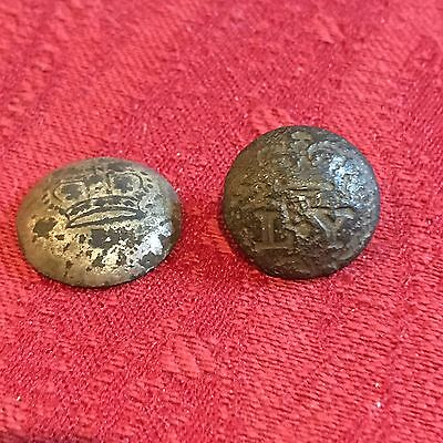 Two Georgian Military Buttons