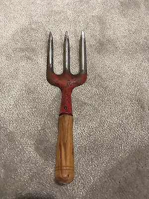 Vintage Wooden Small Gardening Fork