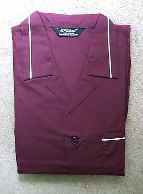 Vintage 80s St Michael M&S Men's PYJAMAS Burgundy size EX Large NEW in orig pack