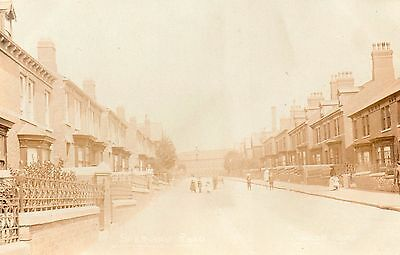 worksop notts sherwood road real photo very rare card