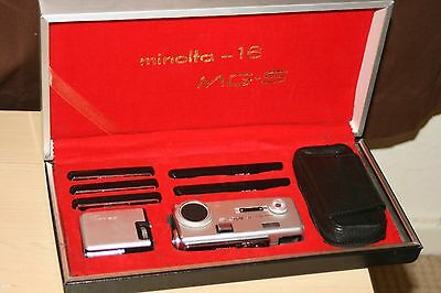 Minolta 16 MG-S Sub-Miniature Camera Kit - Presentation Box - Outer Sleeve.