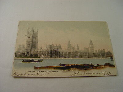 TOP2475 - Undivided Back Postcard - London, Houses of Parliament 1902