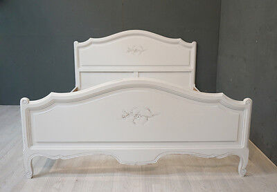Vintage French King Bed / Shabby Chic French (BR293)