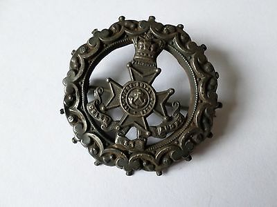 Antique Victorian hallmarked 1876 sterling silver Kings Royal Rifles Badge